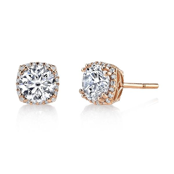 Tacori Jewelry 18k Rose Gold Earrings 1/6 ct. tw.