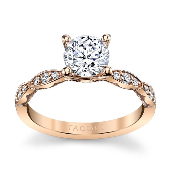 Tacori 18k Rose Gold Diamond Engagement Ring Setting 1/6 ct. tw.