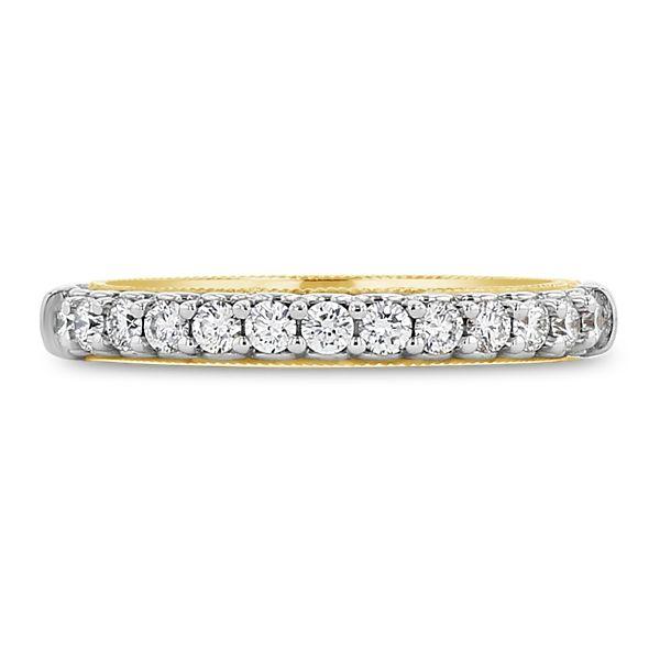 Verragio 14k White Gold and 14k Rose Gold Diamond Wedding Band 1/3 ct. tw.