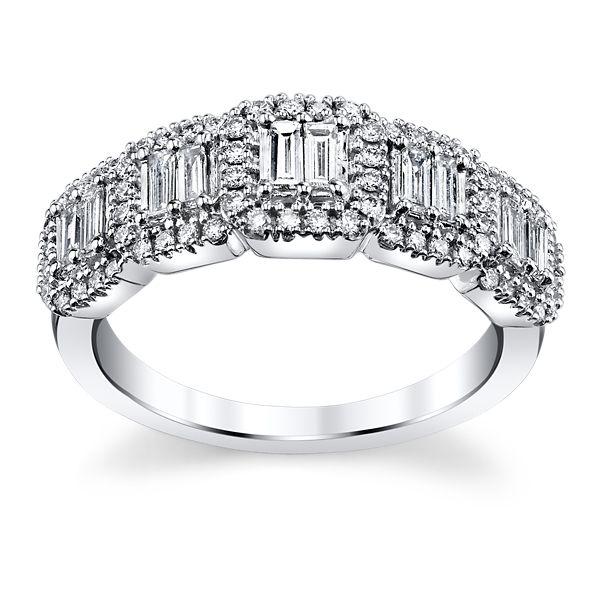 14k White Gold Diamond Wedding Ring 5/8 ct. tw.
