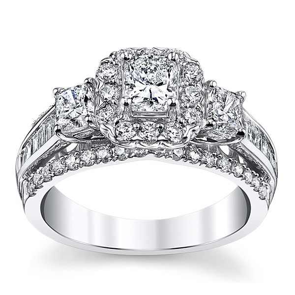 Utwo 14k White Gold Diamond Engagement Ring 1 3/4 ct. tw.