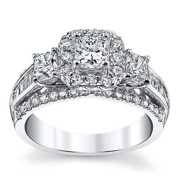 Utwo 14k White Gold Diamond Engagement Ring 1 3/4 ct. tw.