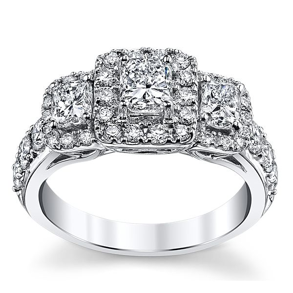 Utwo 14k White Gold Diamond Engagement Ring 2 ct. tw.