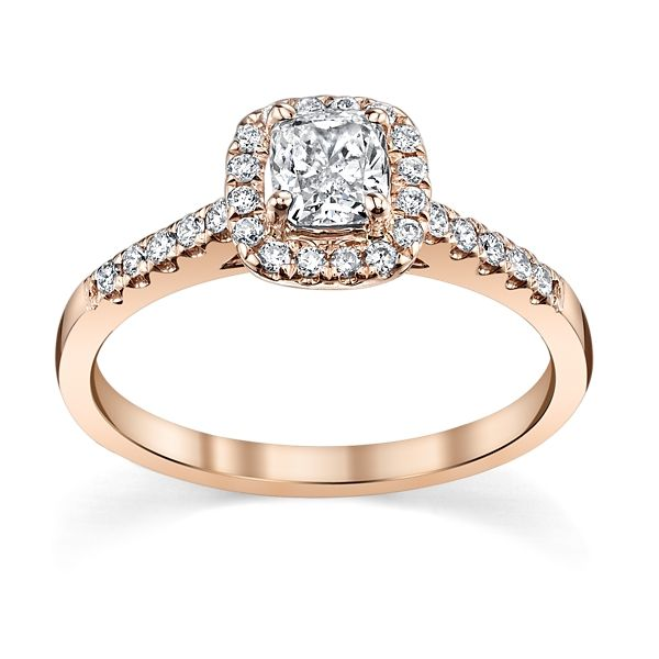 Poem 14k Rose Gold Diamond Engagement Ring 5/8 ct. tw.
