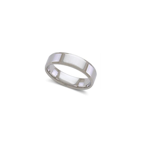 Novell 14k White Gold 6 mm Wedding Band