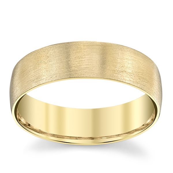 14k Yellow Gold 6 mm Wedding Band