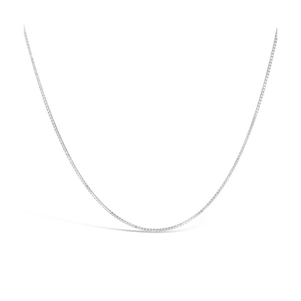 14k White Gold Chain Necklace