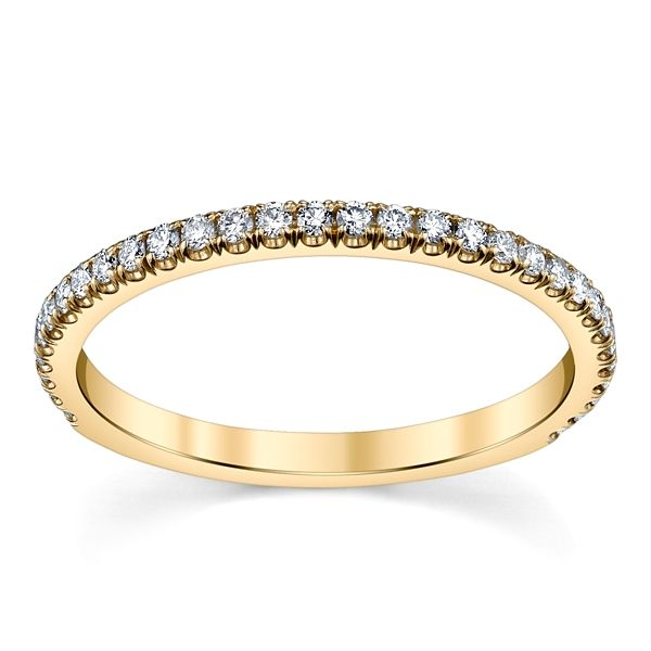 Suns and Roses 14k Yellow Gold Diamond Wedding Band 1/5 ct. tw.