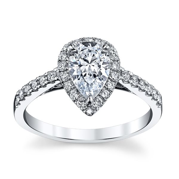 Kirk Kara 18k White Gold Diamond Engagement Ring Setting 1/3 ct. tw.