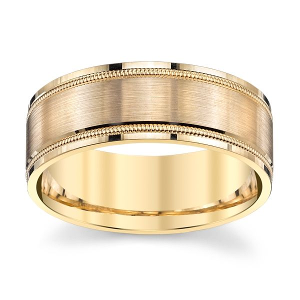 Gravure 14k Yellow Gold 8 mm Wedding Band