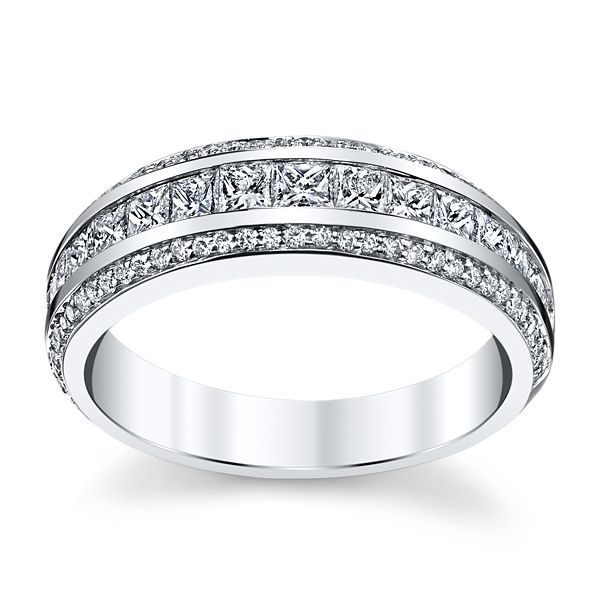 Michael M. 18k White Gold Diamond Wedding Band 1 ct. tw.