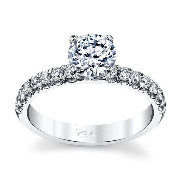 Coast Diamond 14k White Gold Diamond Engagement Ring Setting 1/3 ct. tw.