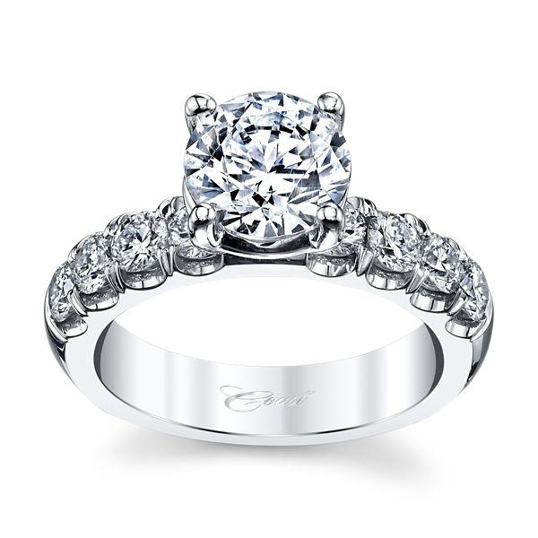 Coast Diamond 14k White Gold Diamond Engagement Ring Setting 7/8 ct. tw.