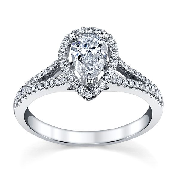 Poem 14k White Gold Diamond Engagement Ring 1 ct. tw.