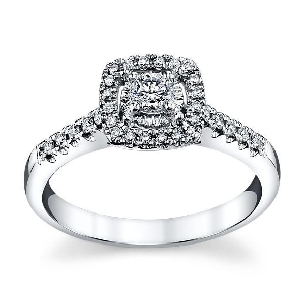 Cherish 14k White Gold Diamond Engagement Ring 1/3 ct. tw.