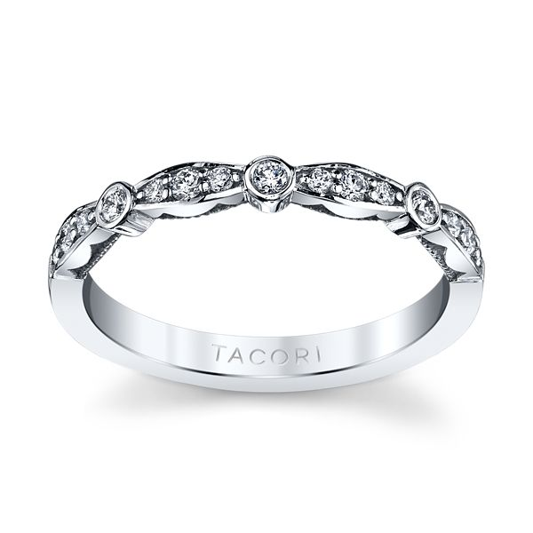 Tacori 18k White Gold Diamond Wedding Band 1/5 ct. tw.