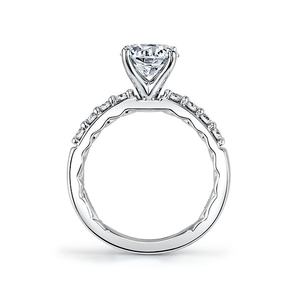 A. Jaffe 14k White Gold Diamond Engagement Ring Setting 3/8 ct. tw.