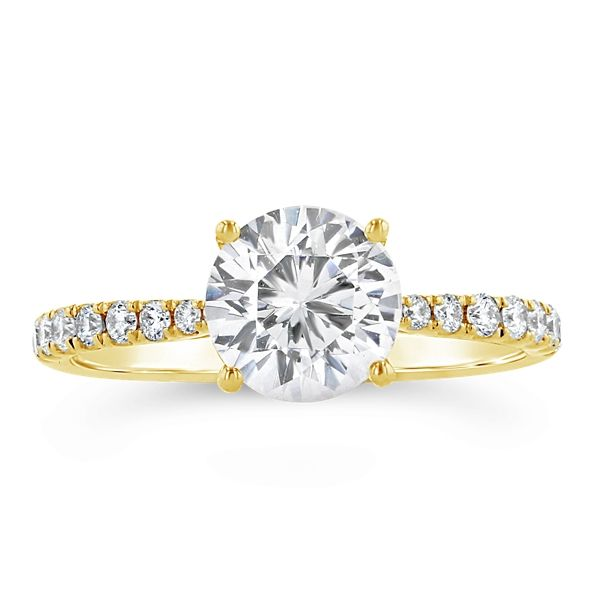 A. Jaffe 14k Yellow Gold Diamond Engagement Ring Setting 1/4 ct. tw.
