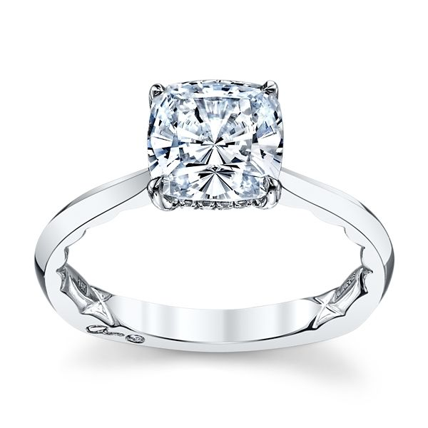 A. Jaffe 14k White Gold Diamond Engagement Ring Setting .07 ct. tw.