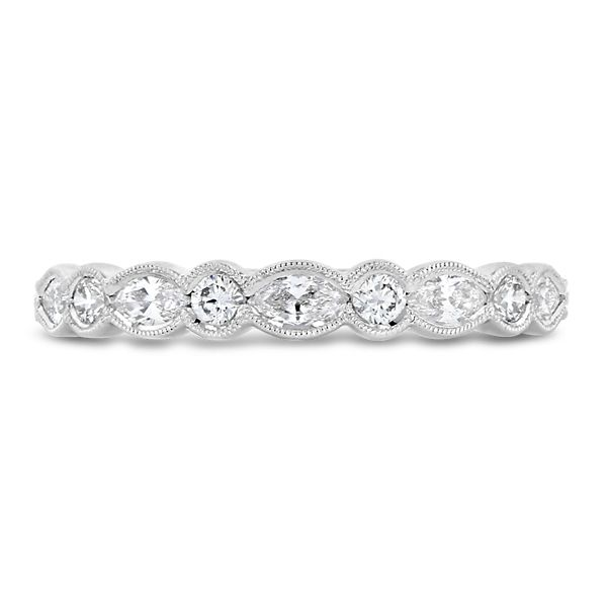 Simon G. 18k White Gold Diamond Wedding Band 1/3 ct. tw.