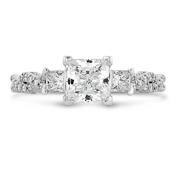 Verragio 18k White Gold Diamond Engagement Ring Setting 1/2 ct. tw.