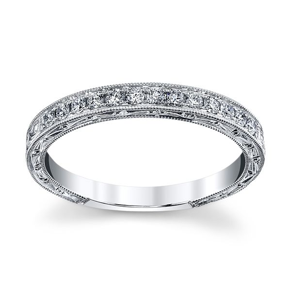 Kirk Kara 18k White Gold Diamond Wedding Band 1/5 ct. tw.
