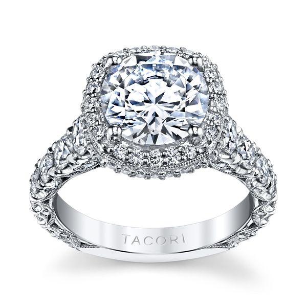 Tacori Platinum Diamond Engagement Ring Setting 2 ct. tw.