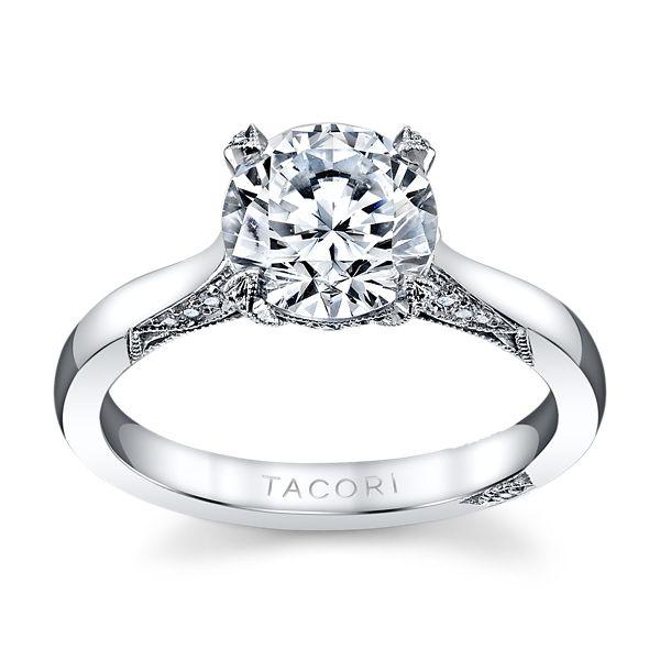 Tacori Platinum Diamond Engagement Ring Setting 1/5 ct. tw.