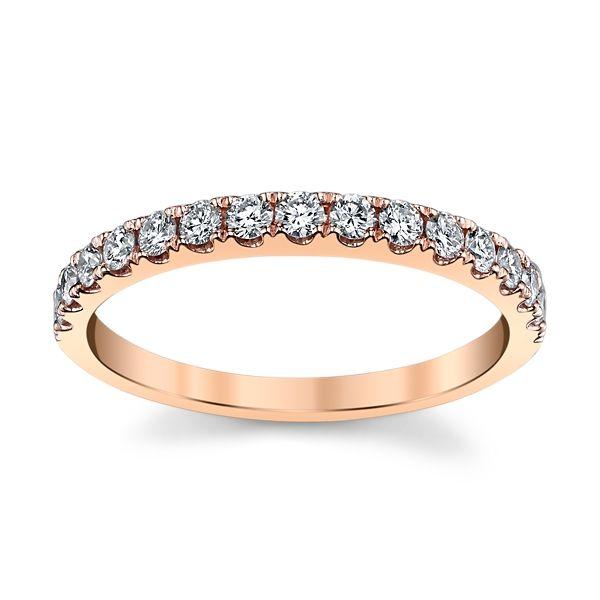 14k Rose Gold Diamond Wedding Band 3/8 ct. tw.