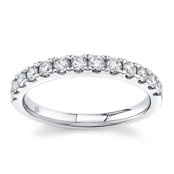 Platinum Diamond Wedding Band 1/2 ct. tw.