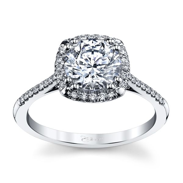 Coast Diamond 14k White Gold Diamond Engagement Ring Setting 1/6 ct. tw.