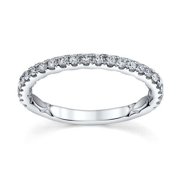 A. Jaffe 14k White Gold Diamond Wedding Band 1/3 ct. tw.
