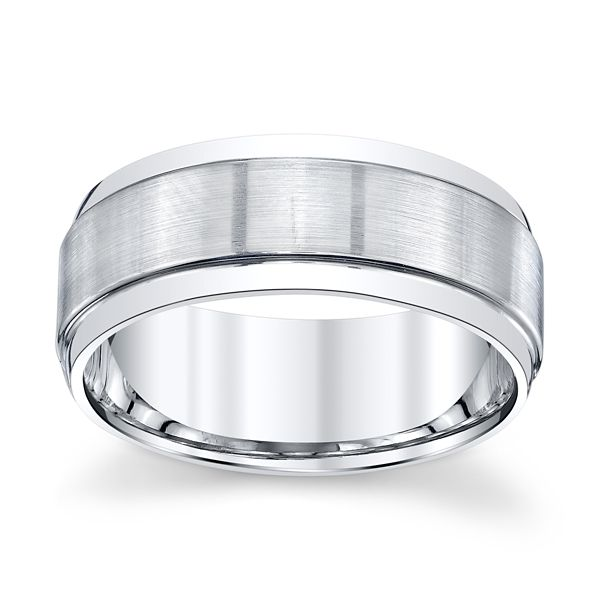 Platinum 8 mm Wedding Band