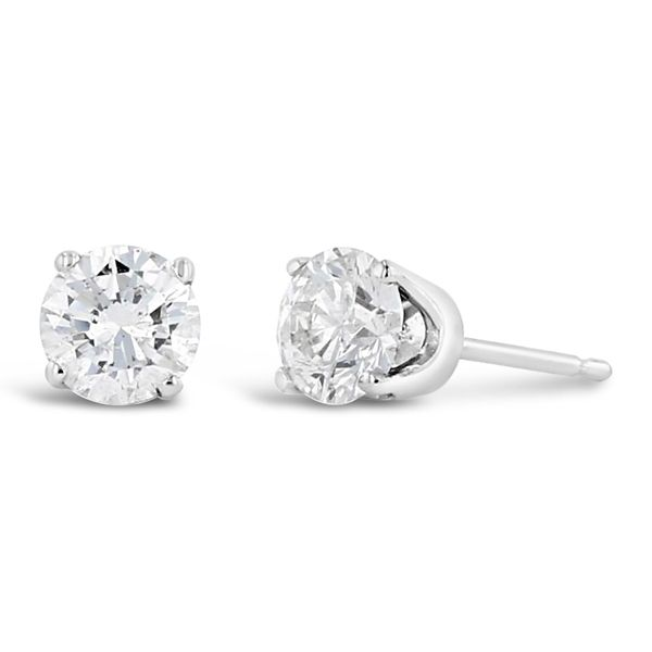 Pre-Owned 14k White Gold Solitaire Earrings 1 ct. tw.