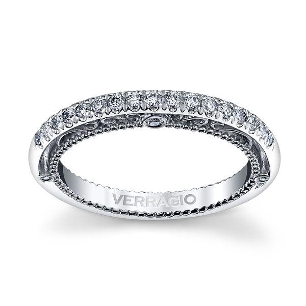 Verragio 18k White Gold Diamond Wedding Band 1/5 ct. tw.