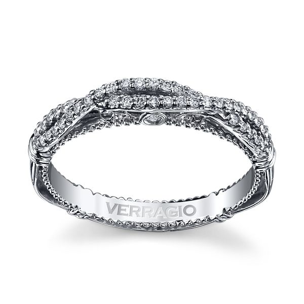 Verragio 14k White Gold Diamond Wedding Band 1/6 ct. tw.