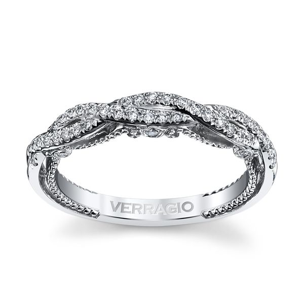 Verragio 18k White Gold Diamond Wedding Band 1/5 ct. tw.