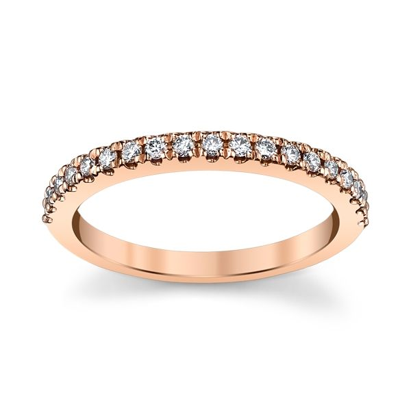 14k Rose Gold Diamond Wedding Band 1/4 ct. tw.