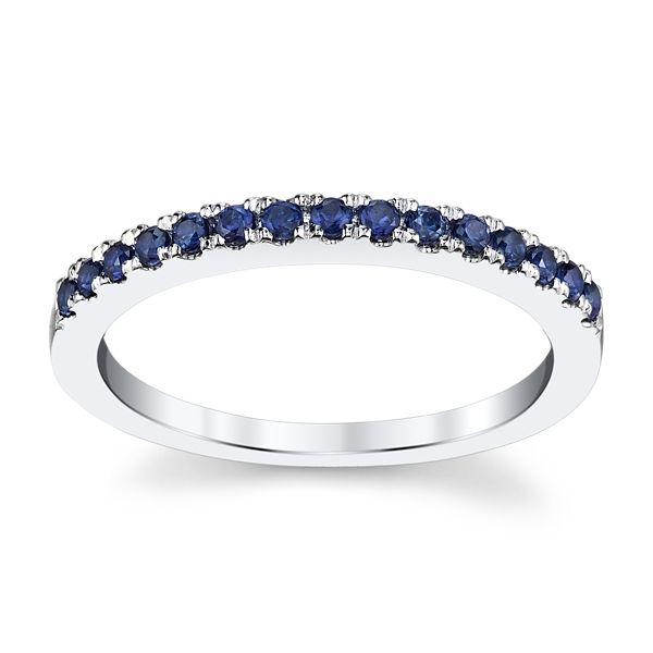 14k White Gold Blue Sapphire Fashion Ring ct. tw.