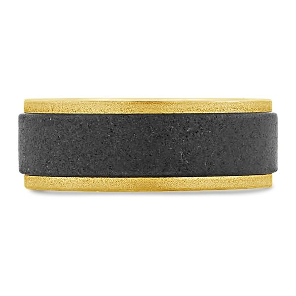 Triton Tungsten and 18k Yellow Gold 8 mm Wedding Band