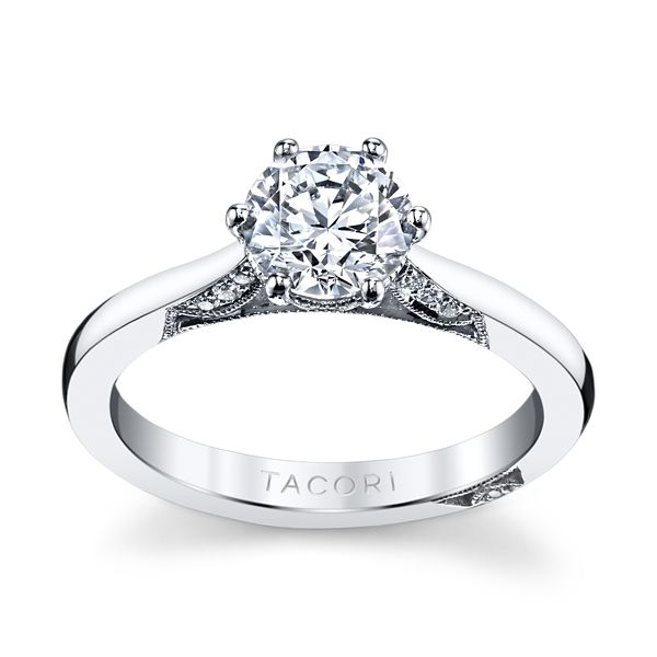 Tacori 18k White Gold Diamond Engagement Ring Setting .07 ct. tw.