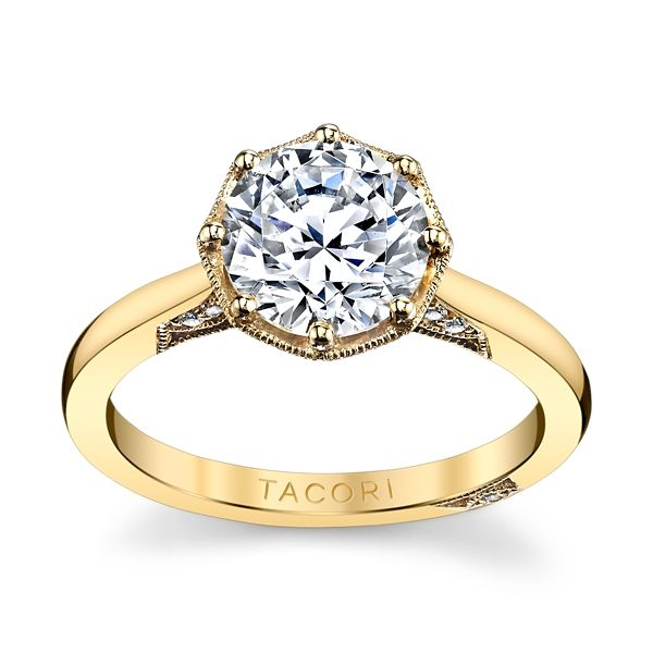 Tacori 18k Yellow Gold Diamond Engagement Ring Setting .07 ct. tw.