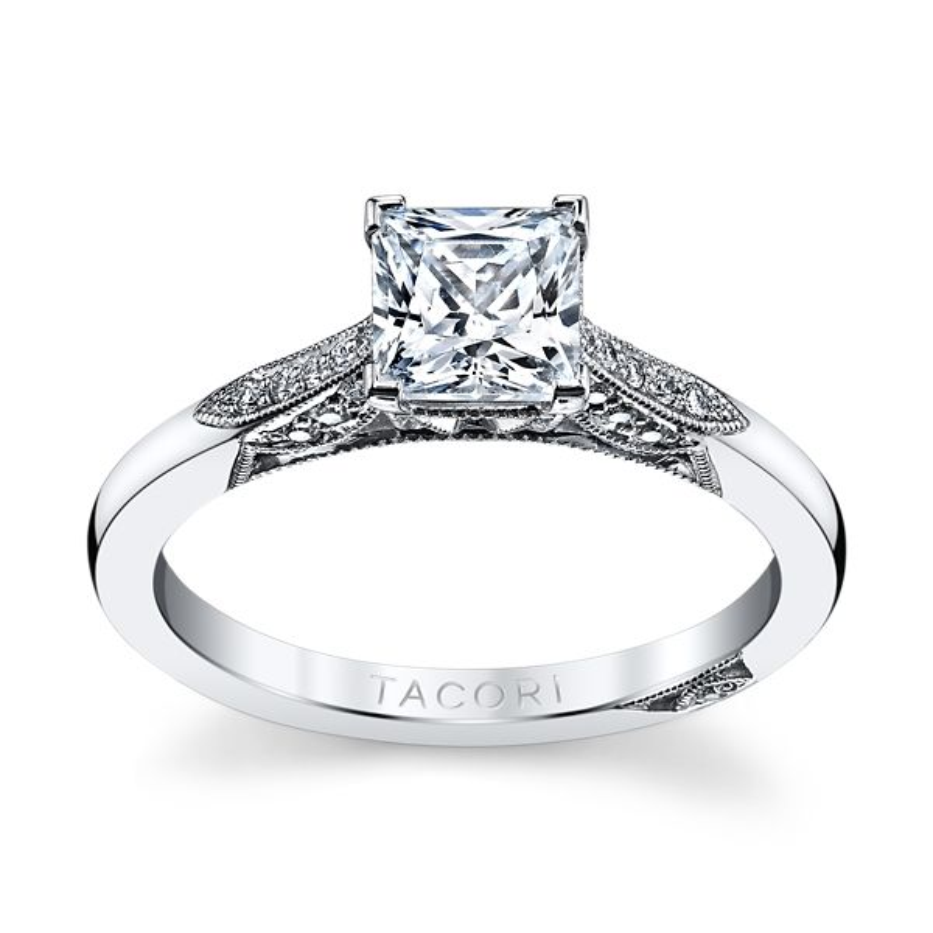 Tacori 18k White Gold Diamond Engagement Ring Setting 1/10 ct. tw.