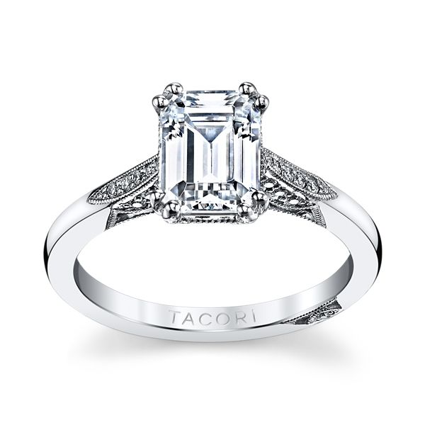 Tacori Platinum Diamond Engagement Ring Setting 1/10 ct. tw.