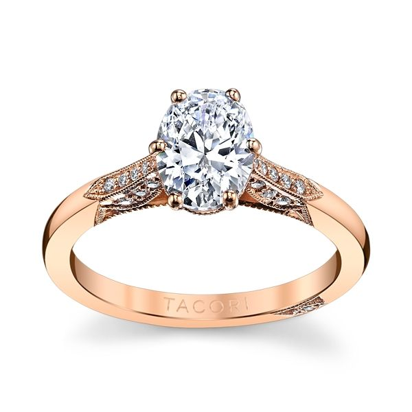 Tacori 18k Rose Gold Diamond Engagement Ring Setting 1/10 ct. tw.