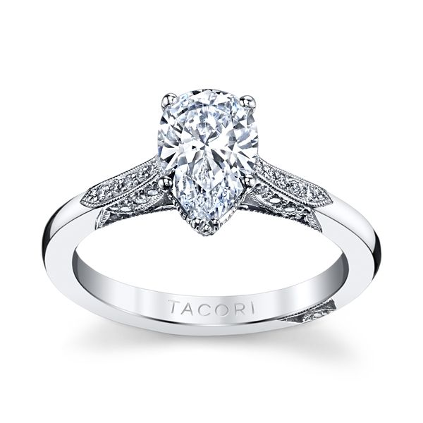 Tacori 18k White Gold Diamond Engagement Ring Setting 1/10 ct. tw.