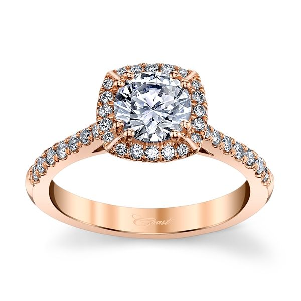 Coast Diamond 14k Rose Gold Diamond Engagement Ring Setting 1/3 ct. tw.