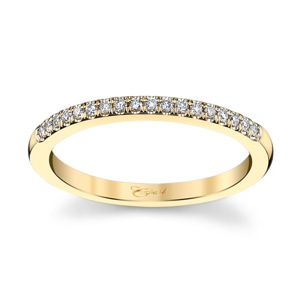 Coast Diamond 14k Yellow Gold Diamond Wedding Band 1/8 ct. tw.