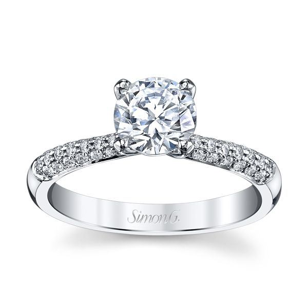 Simon G. Platinum Diamond Engagement Ring Setting 1/5 ct. tw.