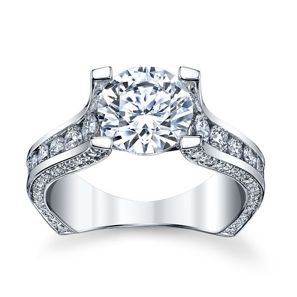 Michael M. 18k White Gold Diamond Engagement Ring Setting 1 1/4 ct. tw.